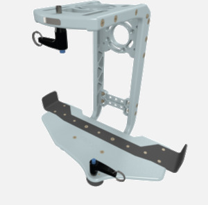 Hillaero INOMAX FAA certified mountable bracket for Air Ambulance Airmed Helicopter or Fixed Wing Aircraft ISO1